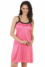 Fasense Exclusive Women Satin Nightwear Sleepwear Short Nighty DP146 B