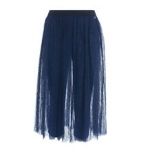 Gonna Twinset in pizzo blu