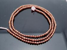 Natural High Quality Pale Red Garnet 2mm Smooth Round Gemstone Beads 16
