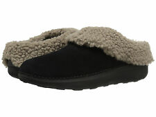Women Fitflop Loaff Snug Slippers B76-001 Black Suede 100% Authentic Brand New