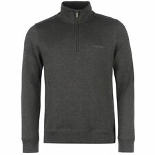 Pierre Cardin ¼ Zip FBR Jumper Mens Charcoal Sweater Pullover Top