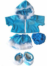 Blue Princess Sparkle Outfit Teddy Bear Clothes Fits  14-18