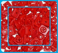 ** PLAYMOBIL ** 100 x RED SYSTEM-X CONNECTORS ** SPARE PARTS * VGC *