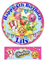 Shopkins Personalized Edible Cake toppers Precut on Icing/Wafer Card