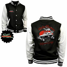 Varsity Auto Sportiva Giacca College Vintage Kustom Speed Shop Tuning Car 1053