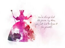ART PRINT Glinda the Good Witch Quote, Wizard of Oz, Wall Art, Gift