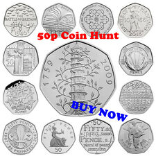 50p Fifty Pence Coins - Commemorative & Coin Hunt, including New 50p 2016 Coins