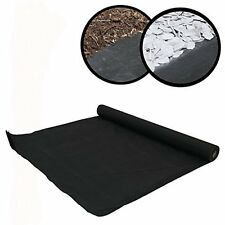 New Weed Control Woven Fabric Ground Cover HEAVY DUTY Mulch Membrane Mat 17gsm