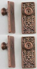 Dollhouse Miniature 1:12 Ornate Door Knobs in Oil Rubbed Bronze Finish