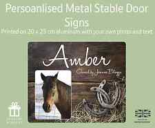 Horse Pony Stable Stall Personalised Aluminium Metal Door Sign Name Plate Plaque