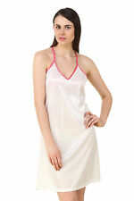 Fasense Exclusive Women Satin Nightwear Sleepwear Short Nighty DP195 C