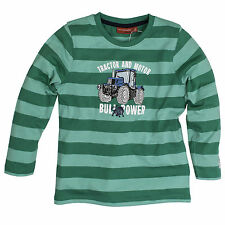 Salt and Pepper Jungen - Farmer Traktor Langarmshirt Green gestreift