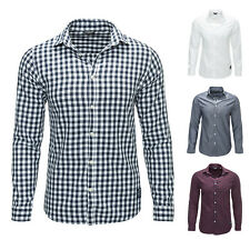 Jack & Jones Camicia da uomo Shirt Top Manica lunga Quadretti Business NUOVO