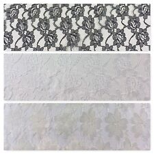 "New Floral Budget lace ideal for clothing, wedding Dress fabric 58"" Wide M682"