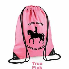 Horse Riding Dressage Rider Draw Bag Personalised Horseriding Equestrian H10