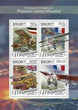 Mozambique - 2016 Military Aircraft - 4 Stamp Sheet - MOZ16317a
