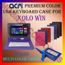 "ACM-USB COLOR KEYBOARD 10"" CASE for XOLO WIN TAB TABLET LEATHER COVER STAND NEW"