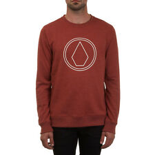 Volcom Herren Sweatshirt STONE CREW FLEECE - DARK CLAY