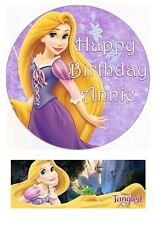 Disney Tangled Princess Rapunzel Personalized Edible Cake toppers Precut