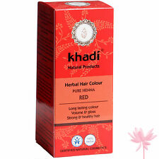 Khadi Herbes Coloration Cheveux in Pur henné - Rouge 100g