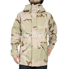 New US Army Cold Wet Weather Gen 1 ECWCS DESERT Goretex Parka Jacket L XL