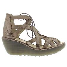Fly London YELI719FLY Wedge Gold Womens Sandals