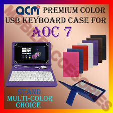 """ACM-USB COLOR KEYBOARD 7"""" CASE for AOC 7 TABLET COVER STAND CARRY NEW"""