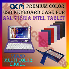 """ACM-USB COLOR KEYBOARD 7"""" CASE for AXL 718GIA INTEL TABLET LEATHER COVER STAND"""