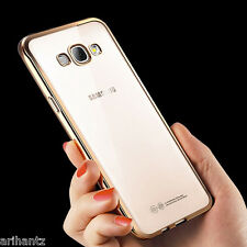 Transparent Soft Back Cover Colored Border for SAMSUNG GALAXY J3
