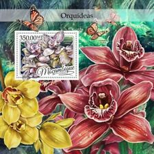 Mozambique - 2016 Orchids on Stamps - Stamp Souvenir Sheet - MOZ16417b