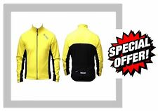 Midas Windtex Soft Touch Ciclismo Invernale Cycle Giacca Giallo Antivento