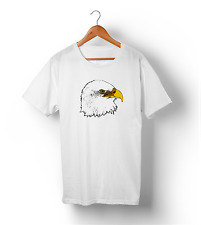 AMERICAN BALD EAGLE Retro Graphic Cool Funny Dad Father Gift Mens White T-Shirt