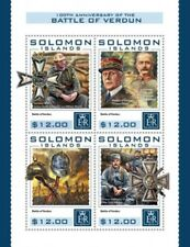 Solomon Islands - 2016 Battle of Verdun - 4 Stamp Sheet - SLM16414a