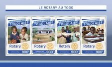Togo - 2016 Rotary International - 4 Stamp Sheet - TG16517a