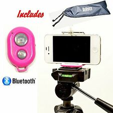 Cell Phone Tripod Adapter Bluetooth Remote Control Travel Bag Iphone Tripod M..