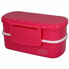 Bento Style Lunch Box with Ice Tray, Polar Gear Pink