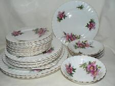 ROYAL ALBERT Prairie Rose China - Saucers, Side Plates, Dinner PLATE
