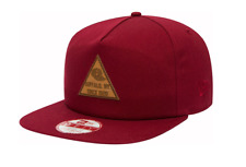 NEW ERA 9FIFTY SNAPBACK CAP. TRI PATCH NEW ERA. CARDINAL RED