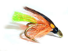 3x or 6x GREEN TAIL DUNKELD (SCOTD4) WEE DOUBLE Trout, Sea Trout & Salmon Flies