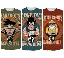 NEW DRAGON BALL Z VEGETA KAKAROT GOKU ROSHI GYM HD PRINT TEE T SHIRT UK STOCK