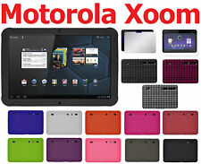AMZER Jelly Skin Luxe Argyle + extra Case Screen Protector Motorola XOOM 1st Gen