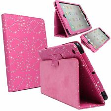 HOT PINK DIAMOND BLING GLITTER PU LEATHER CASE COVER FOR  APPLE IPAD 2 ,3 & 4