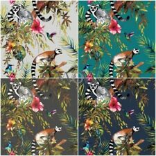 HOLDEN LEMUR WALLPAPER SILVER BLUE AND TEAL AVAILABLE FEATURE WALL DECOR NEW