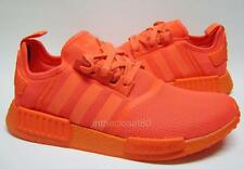 Adidas NMD R1 Triple Red Mono Coloured Boost Sole Mens Trainers S31507 Solar Red