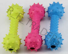 RESISTANT RUBBER DUMBBELL SHAPE BONE INSIDE BELL PLAY TOY FETCH  DOG PUPPY CAT