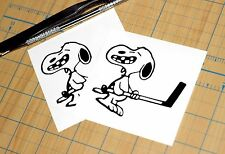 Snoopy Hockey Sticker | SET OF TWO | Snoopy Decal