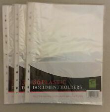 A4 CLEAR PLASTIC PUNCHED  POCKETS / WALLETS / SLEEVES FOR FILING + FREE P&P!