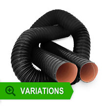 Silicone 2 Ply Black Air Ductings - Flexible Air Duct Cold & Hot Air Wire Helix