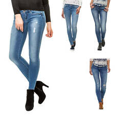 Only Damen Skinny Jeans Jeanshose Damenhose Hose Stretch Denim Used Look NEU