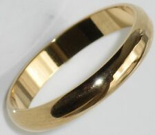 MENS OR WOMENS  PLAIN WEDDING RING BAND  GOLD PLATED 3MM STR161 BRIDAL HIS HERS